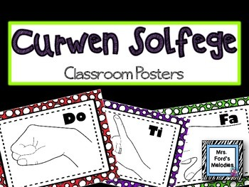 Curwen Solfege Classroom Posters