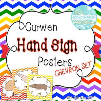 Curwen Solfege Hand Signs Posters: Chevron