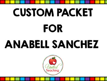 Custom 1st Grade Packet for Anabell Sanchez