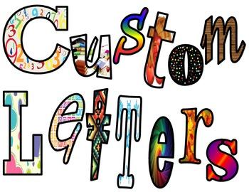 Bulletin Board Letters: Custom Made Per Order