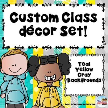 Custom Class Decor Bundle for Melissa