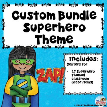 Custom Classroom Decor Bundle for C. Knese Superhero Theme