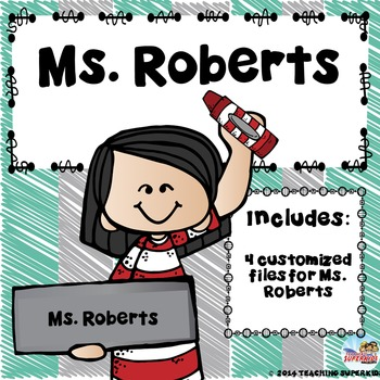 Custom Classroom Decor Kit for Mrs. Roberts