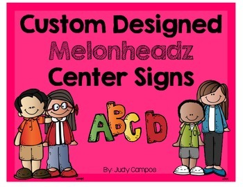 Custom Designed Melonheadz Center Signs