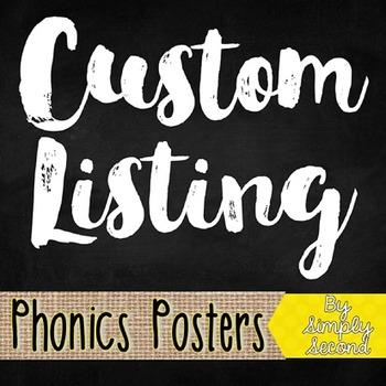 Custom Listing - Phonics Posters