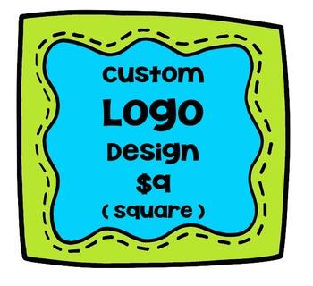 Custom Logo Design Square {P4 Clips Trioriginals Digital C