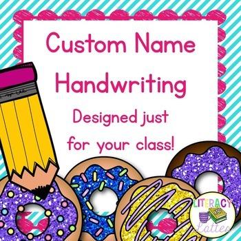 Custom Name Writing Practice {Donut Edition} *HARD GOOD*