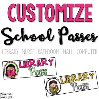 Custom Orders: Personalized School Passes