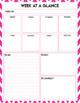 Custom Planner Week at a Glance