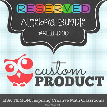 Custom Product Algebra Bundle (REILD100)