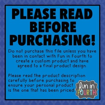 Custom Product Purchase - Please Read Carefully!