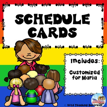 Custom Schedule Cards in Primary Colors