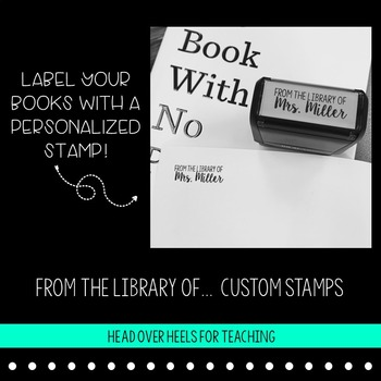 Custom Teacher Stamp: From the Library of ... {Teacher Name}