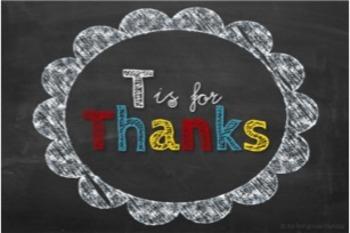 Thank You Notes, Custom Order {Alphabet Chalkboard}