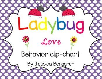 Custom order:Clip Chart Signs {Ladybug Love}
