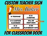 Custom teacher sign classroom door graphic design for teac