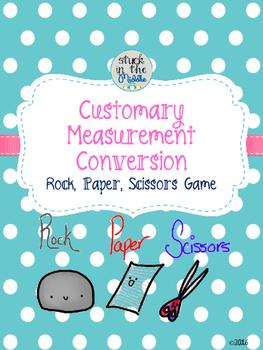 Customary Measurement Conversion Rock, Paper, Scissors Game