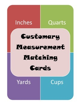 Customary System Matching Cards