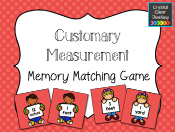 Customary Measurement Matching Game