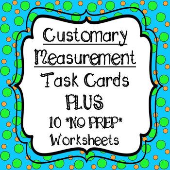 customary measurement task cards and no prep by 4th grade math teacher teachers pay teachers. Black Bedroom Furniture Sets. Home Design Ideas