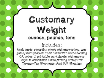 Customary Weight Pack-Common Core