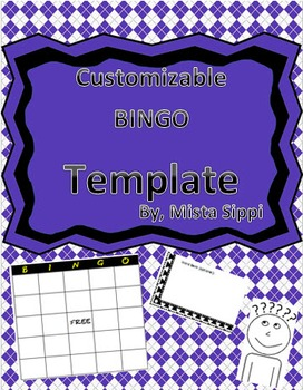 Customizable BINGO Template