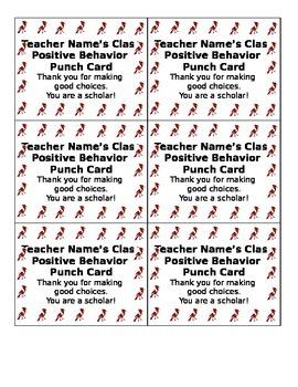 Customizable Behavior Punchcard