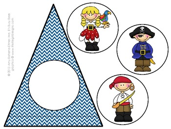 Customizable Blue Pirate Pennant Banner