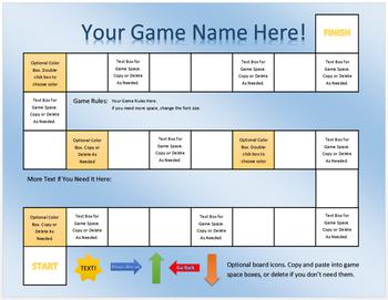 Customizable Board Game