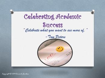 Customizable Character Education Celebrate Academics & Aca