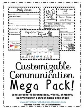 Customizable Chevon Communication Mega Pack [Daily, Weekly