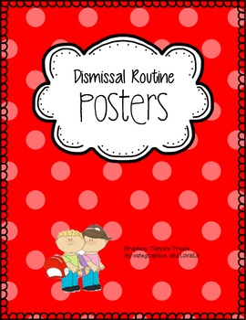 Customizable Dismissal Routine Posters (with Pictures)