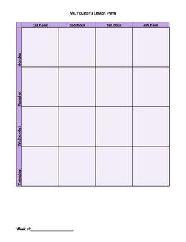 Customizable Lesson Plan Book