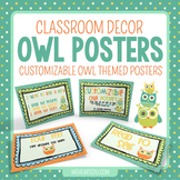 Customizable Owl Theme Posters