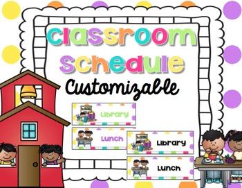 Customizable Schedule Cards {Bright Decor}