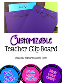 Customizable Teacher Clipboard (set of 2 any color)