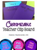 Customizable Teacher Clipboard (set of 2 any color)