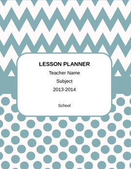 Customizable FL Teacher Planner with 2013-14 Calendar