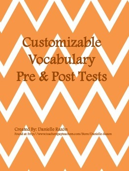 CCSS & CCRSAE Vocabulary Pre & Post Tests