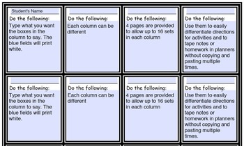 Customize Differentiated Student Task Cards, Exit Tickets,