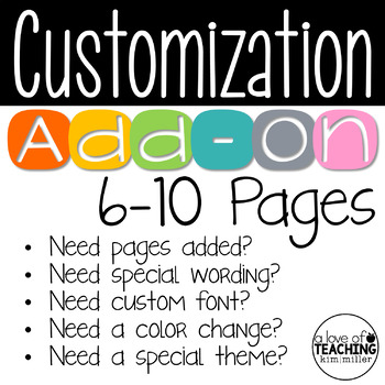 Customization Add-On (6-10 Pages)