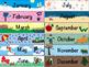 School Calendar (Color & Coloring Book Styles)