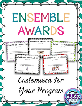 Customized Ensemble Awards