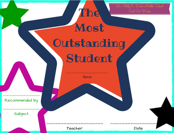 Customized Student and Teacher Certificates!