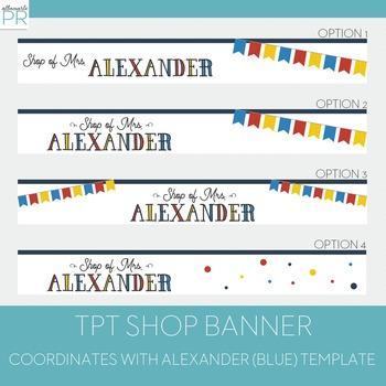 Customized Teachers Pay Teachers Banner - Alexander Banner