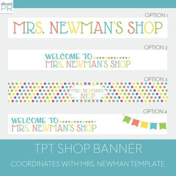 Customized Teachers Pay Teachers Banner - Mrs. Newman