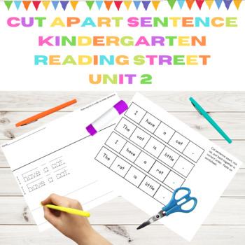 Cut Apart Sentences Kindergarten Reading Street Decodables Unit 2
