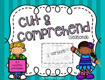 Differentiated Cut & Paste Comprehension Worksheets