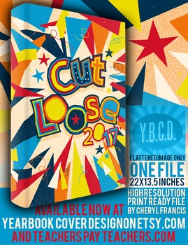 Cut Loose 2017 yearbook cover design