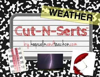 Cut-N-Serts: Weather (Interactive Journal Inserts/Pages)